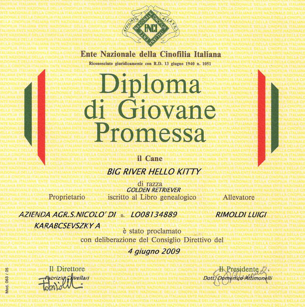 Diploma-Kitty-Giovane-promessa-ENCI-2009